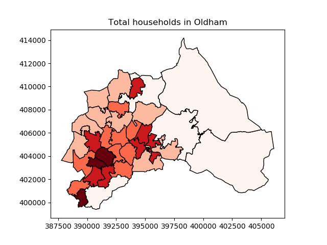 Total households in Oldham